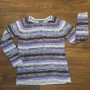 Eddie Bauer Striped Cotton Sweater Size Medium